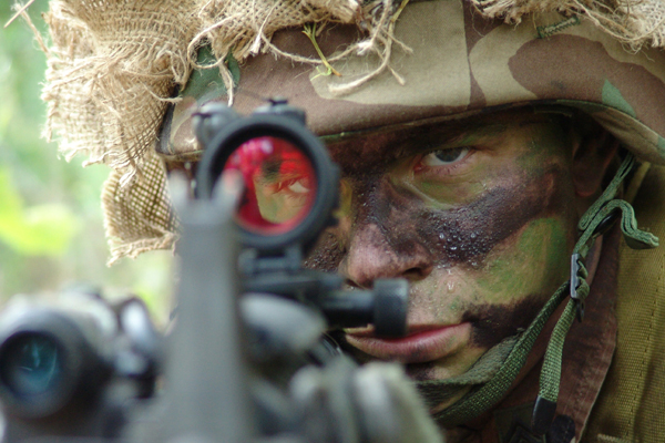 Army Camouflage Face Paint Break Up
