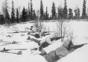 Finnish ski troops in Northern Finland in January 1940