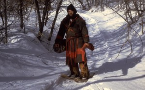 Mountain man (Andrew Langford) on snowshoes Kurt Gleave No date