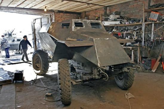 how to build a homemade tank