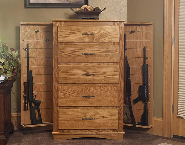 How To Build Hidden Gun Cabinet Plans DIY Free Download Small Wood ...