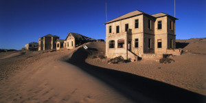Ghost Town in Desert